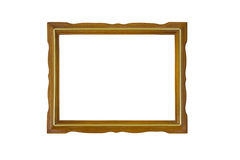 Vintage Wooden Picture Frame. Stock Photos