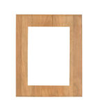 Vintage wooden picture frame isolated Stock Photography