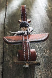 Vintage wooden plane on wooden board Stock Photography