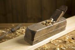 Vintage wooden planer Royalty Free Stock Image