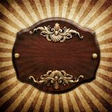 Vintage wooden plaque Stock Photography