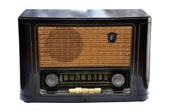 Vintage wooden radio Stock Image