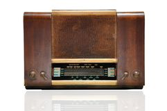 Vintage wooden radio Stock Images