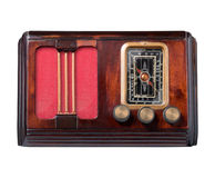 Vintage wooden radio. Royalty Free Stock Image