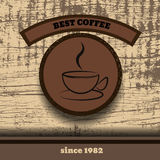 Vintage wooden  retro Coffee Stampe design best coffee  ep Royalty Free Stock Photo