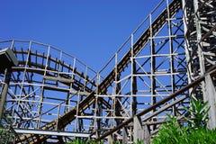 Vintage wooden roller coaster Stock Image
