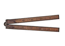 Vintage wooden ruler Stock Photos