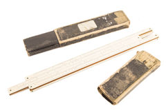 Vintage wooden ruler Royalty Free Stock Photography