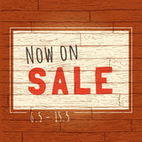 Vintage wooden sale banner. Stock Photography
