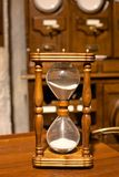 Vintage wooden sandglass Royalty Free Stock Photography