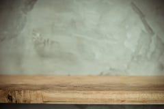 Vintage wooden shelf background Royalty Free Stock Images