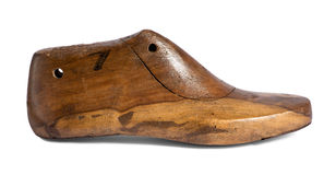 Vintage wooden shoe form Stock Photography