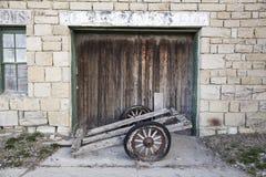 Vintage wooden shop door Stock Image