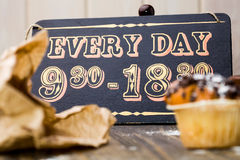 Vintage wooden sign board Stock Images