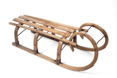 Vintage wooden sled Stock Photos