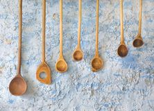 Vintage wooden spoons Stock Photography