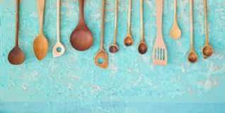 Vintage wooden spoons Royalty Free Stock Images