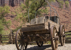 Vintage wooden stagecoach wagon from the American pioneer days Royalty Free Stock Photography