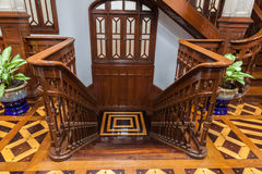 Vintage wooden staircase Stock Image