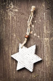 Vintage Wooden Star Christmas Decoration Stock Photos