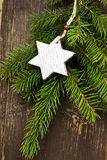 Vintage Wooden Star Christmas Decoration Stock Image