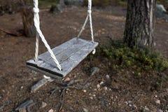 Vintage wooden swing Stock Image