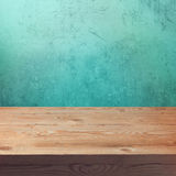 Vintage wooden table mock up template Stock Image