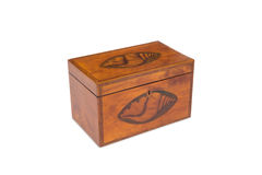 A Vintage Wooden Tea Double Caddy Royalty Free Stock Photography