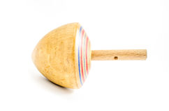 Vintage wooden top toy Stock Image