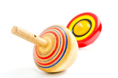 Vintage wooden top toy Stock Photography
