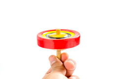 Vintage wooden top toy Stock Images