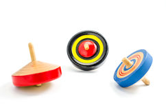 Vintage wooden top toy Royalty Free Stock Image