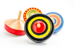 Vintage wooden top toy Royalty Free Stock Photography