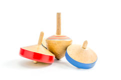 Vintage wooden top toy Royalty Free Stock Photos