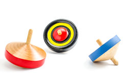 Vintage wooden top toy Stock Photos