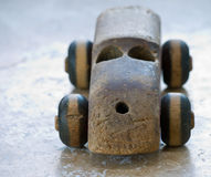 Vintage Wooden Toy Car Royalty Free Stock Images