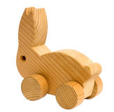 Vintage wooden toy rabbit Stock Photography