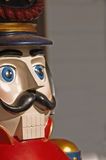 Vintage wooden toy soldier (closeup) Stock Images