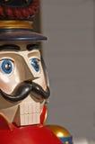 Vintage wooden toy soldier (closeup). Closeup of vintage (Victorian)  wooden toy soldier (5 feet tall) Christmas porch decoration Stock Images