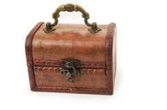 Vintage wooden treasure chest toy Royalty Free Stock Photography