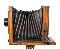 Vintage wooden view camera Stock Photography