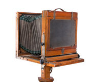 Vintage wooden view camera Royalty Free Stock Image