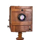 Vintage wooden view camera Stock Image