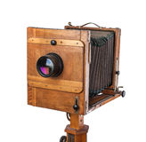 Vintage wooden view camera Royalty Free Stock Photos