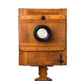 Vintage wooden view camera Stock Images