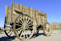 Vintage wooden wagon and spoked wheel Stock Images