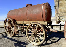 Vintage wooden wagon and spoked wheel Royalty Free Stock Photo