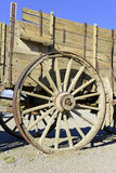 Vintage wooden wagon and spoked wheel Royalty Free Stock Photos