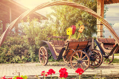 Vintage wooden wagon Royalty Free Stock Images