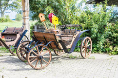 Vintage wooden wagon Royalty Free Stock Photos